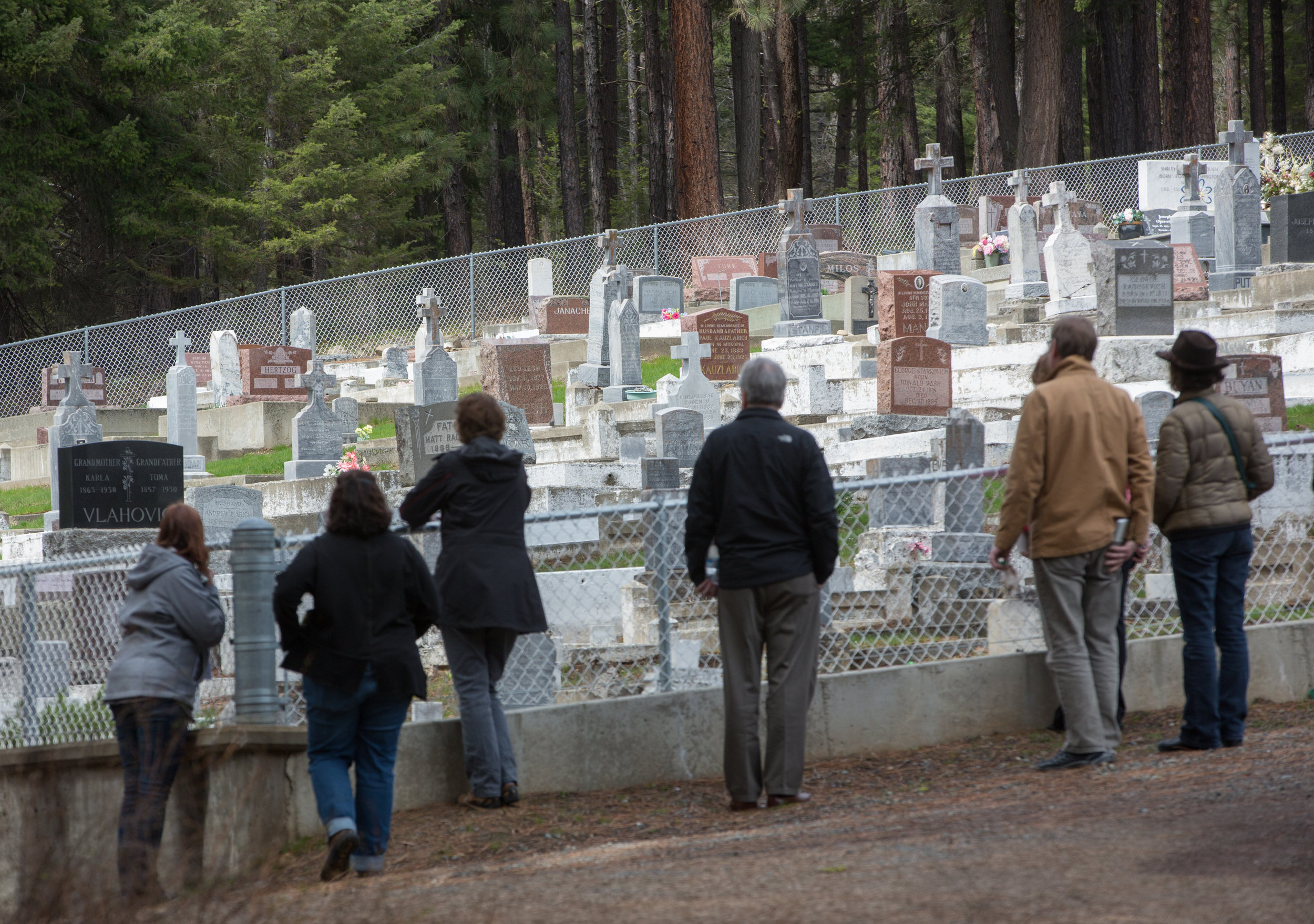 Visiting one of Roslyn's 26 ethnic cemeteries.