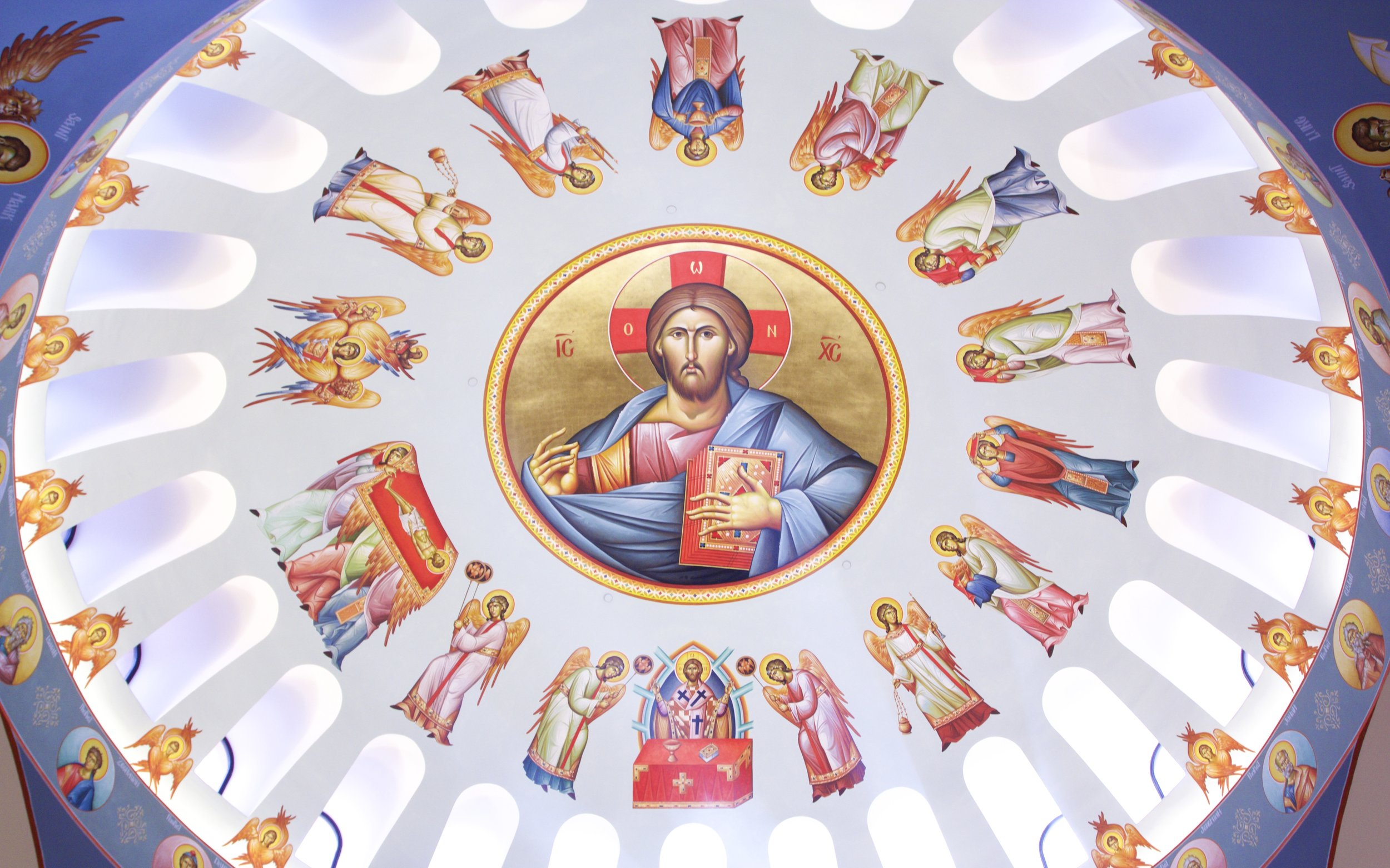 """Assumption's Dome - """"The Great Entrance of Angels During Liturgy"""""""