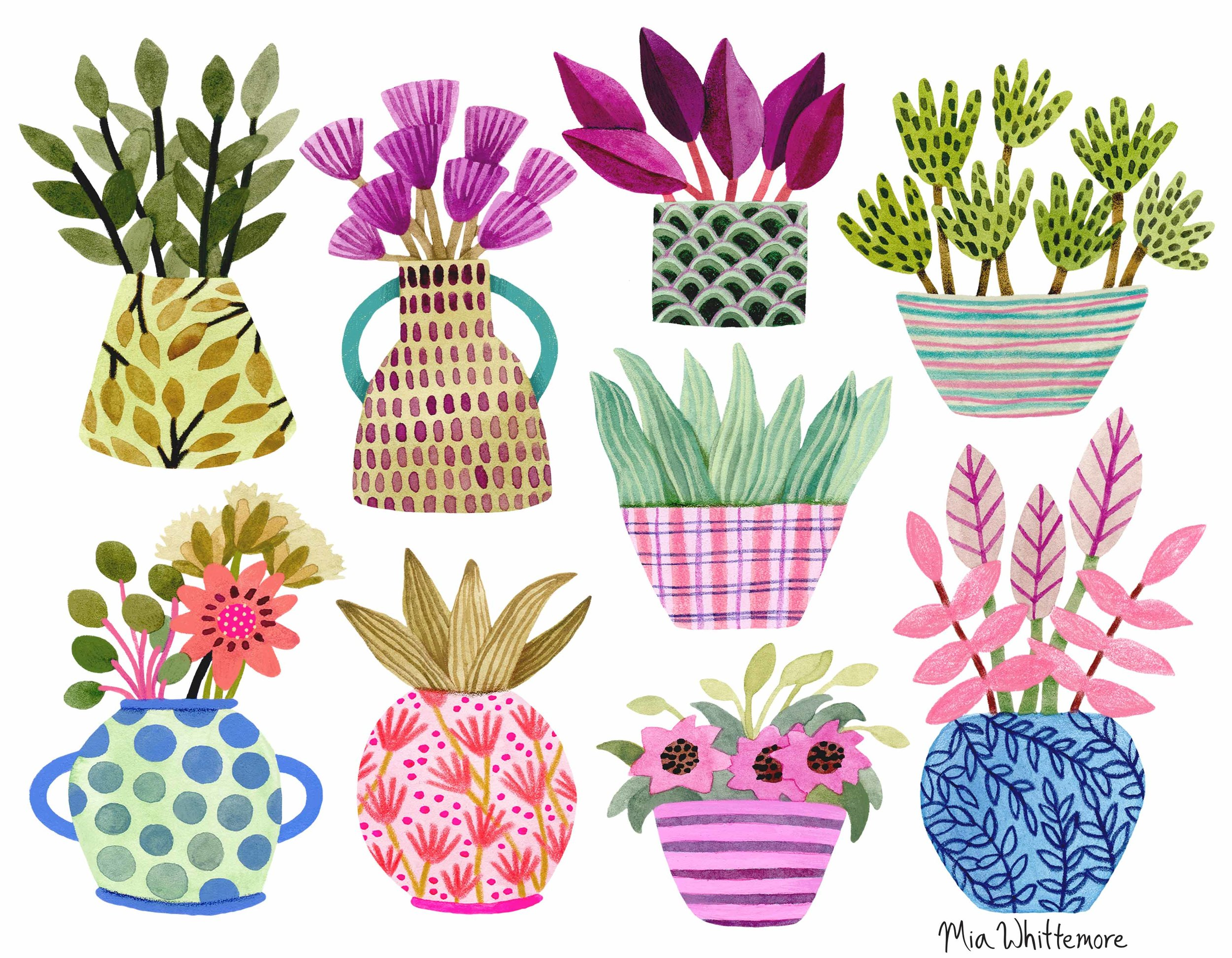 Mia Whittemore Colorful Vases.jpg