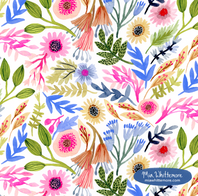 Mia Whittemore_Blue Leaves Pattern.png