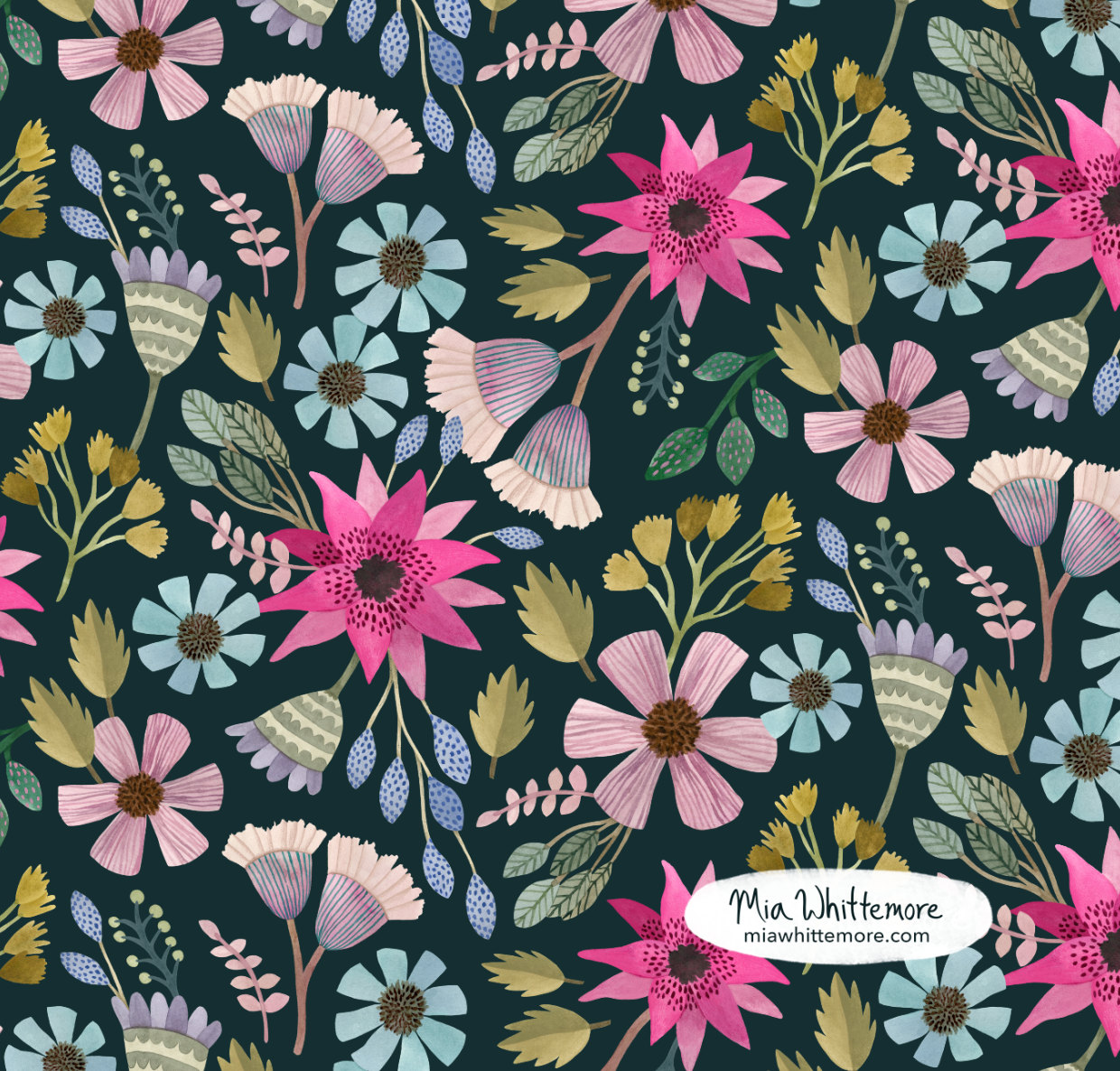 Mia Whittemore Hot Pink Floral.png
