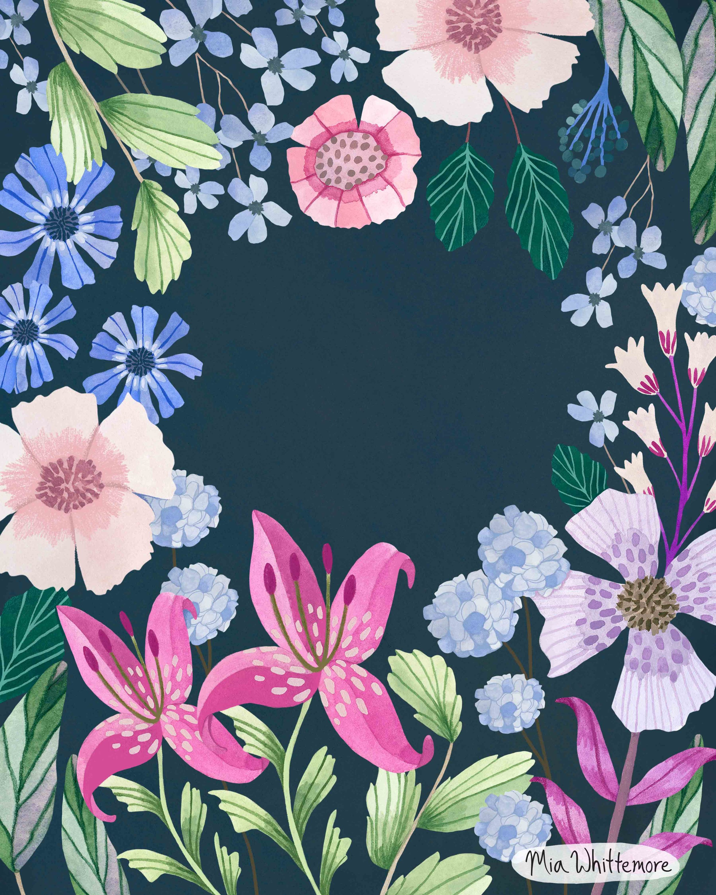 Mia Whittemore_Floral Border Blue.jpg