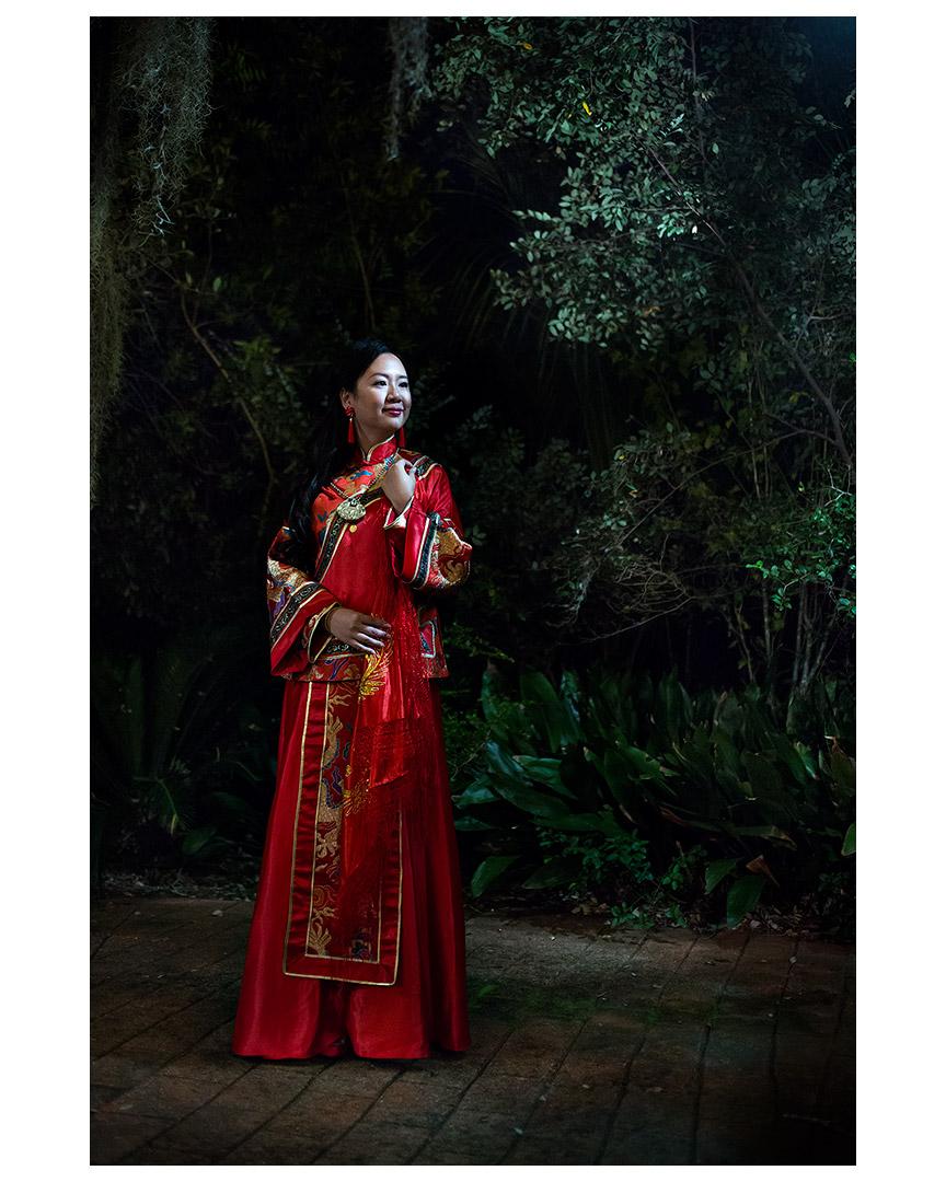 Wedding portrait of Jinhua Xi, Dunvegan Keep, Austin, Texas