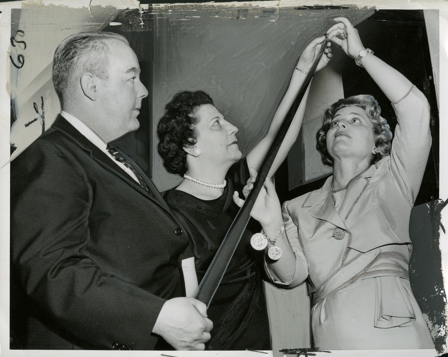 Newly Appointed Censor Board, May 1961: Norman Mason, Mary Avara, and Rosalyn Shecter. William LaFoore, 1961.