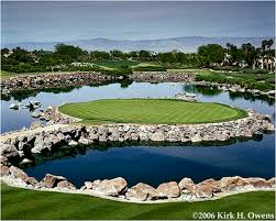 The 17th at the Stadium course is very scenic, but treacherous, particularly on Sunday