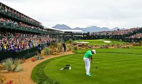 The 16th hole at TPC Scottsdale is a classic