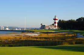 No. 18 at Harbour Town, with its signature Lighthouse, offers a major challenge for the players on a drama filled Sunday.  Photo courtesy of intothegrain.com
