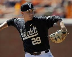 Patrick Raby (above, photo courtesy of USA Today) and Kyle Wright (below, photo courtesy of D1 Baseball.com) will lead VU on the hill.