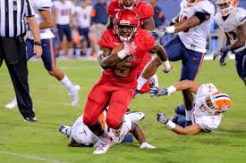 Devin Singletary will try to keep his locomotive cookin tonight in the Boca Bowl (Photo, University Press).