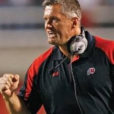 Can Utah Coach Kyle Whittingham keep up his impeccable bowl record (photo, Twitter