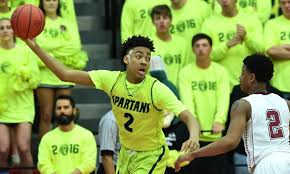 Junior and 2019 5 star and top 10 player in the country Trendon Watford and the Mountain Brook Spartans compete in another Final Four. (Photo courtesy of AL.com