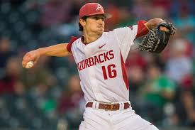 Arkansas' starter tonight Blaine Knight has put up some major numbers this season (Photo, The 3rd Man In).