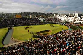 Number 18 at Carnoustie promises to have some compelling drama on Sunday. With the dry conditions, players may be careful on whether to use driver or not on the 499 yard hole. They have been driving it a ton in the baked out conditions with a dry spell going through Scotland. (Photo, USA Today).