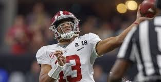Tua Tagovailoa (above, photo, 247 sports) and Jalen Hurts (photo A To Z Sports, Nashville) battle it out for QB1 in Tuscaloosa.