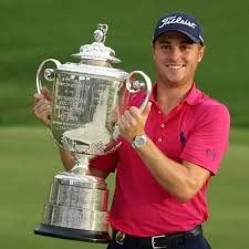 After capturing the 99th PGA Championship, I like Justin to hoist the Wanamaker in the 100th PGA. (Photo, Twitter).