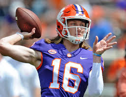 Superstar true freshman Trevor Lawrence is battling it out with senior Kelly Bryant for the starting quarterback spot. (Photo, Post and Courier).