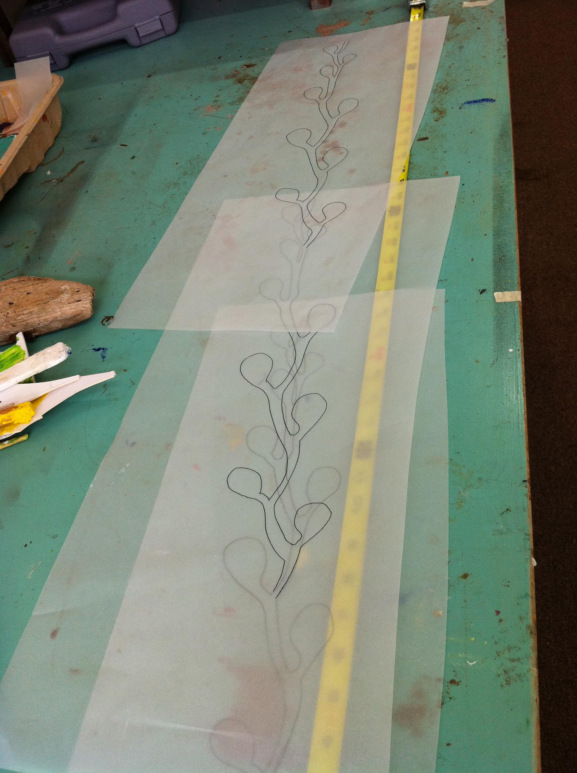 Preparing the kelp