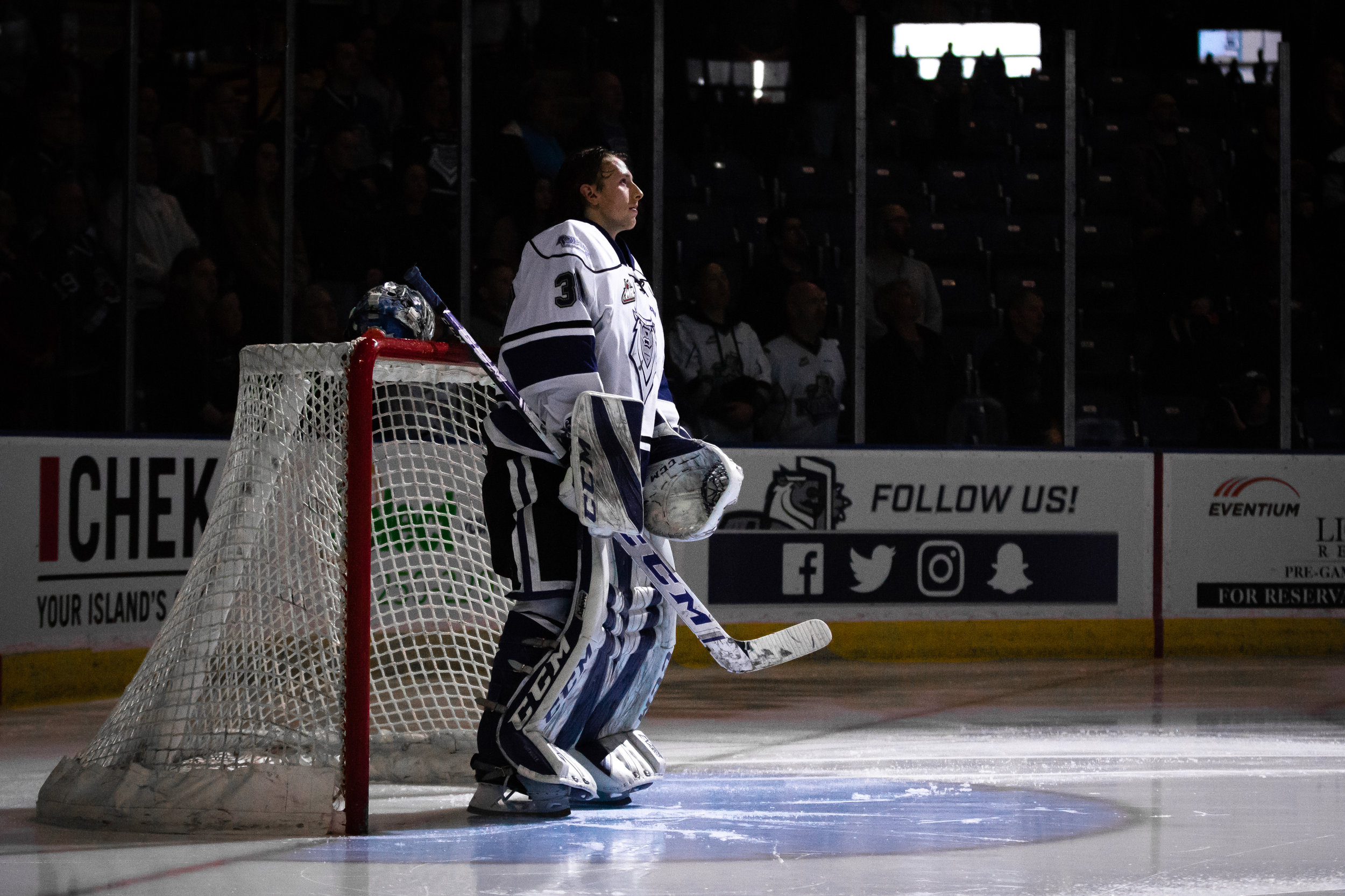 #30 Griffen Outhouse - Game 2 - WHL Playoffs 2019 Victoria Royals VS Kamloops Blazers - March 23 2019 (4-3 Loss). Photo by Jay Wallace -20145.jpg