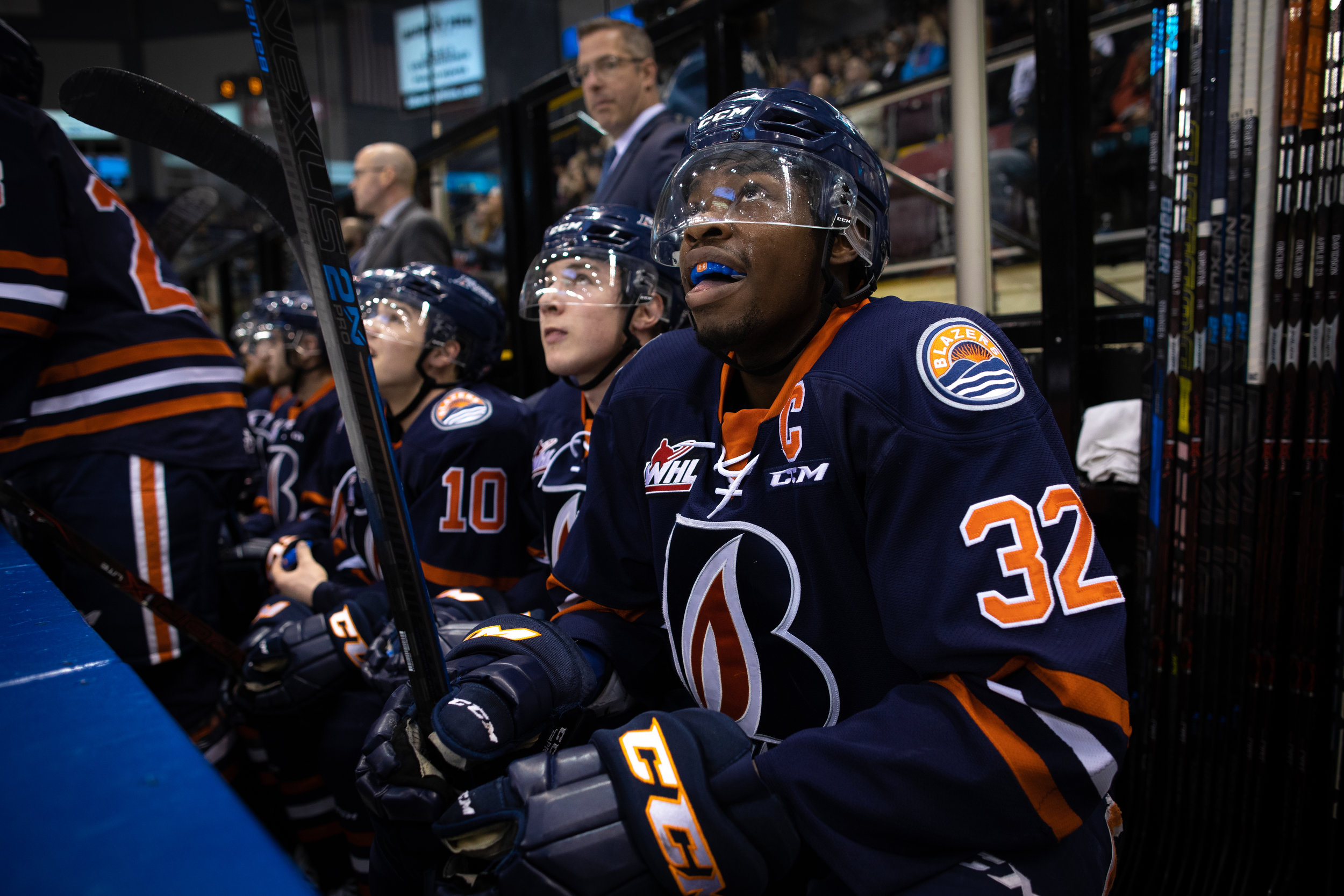 #32 Jermaine Loewen - Game 2 - WHL Playoffs 2019 Victoria Royals VS Kamloops Blazers - March 23 2019 (4-3 Loss). Photo by Jay Wallace-34684.jpg