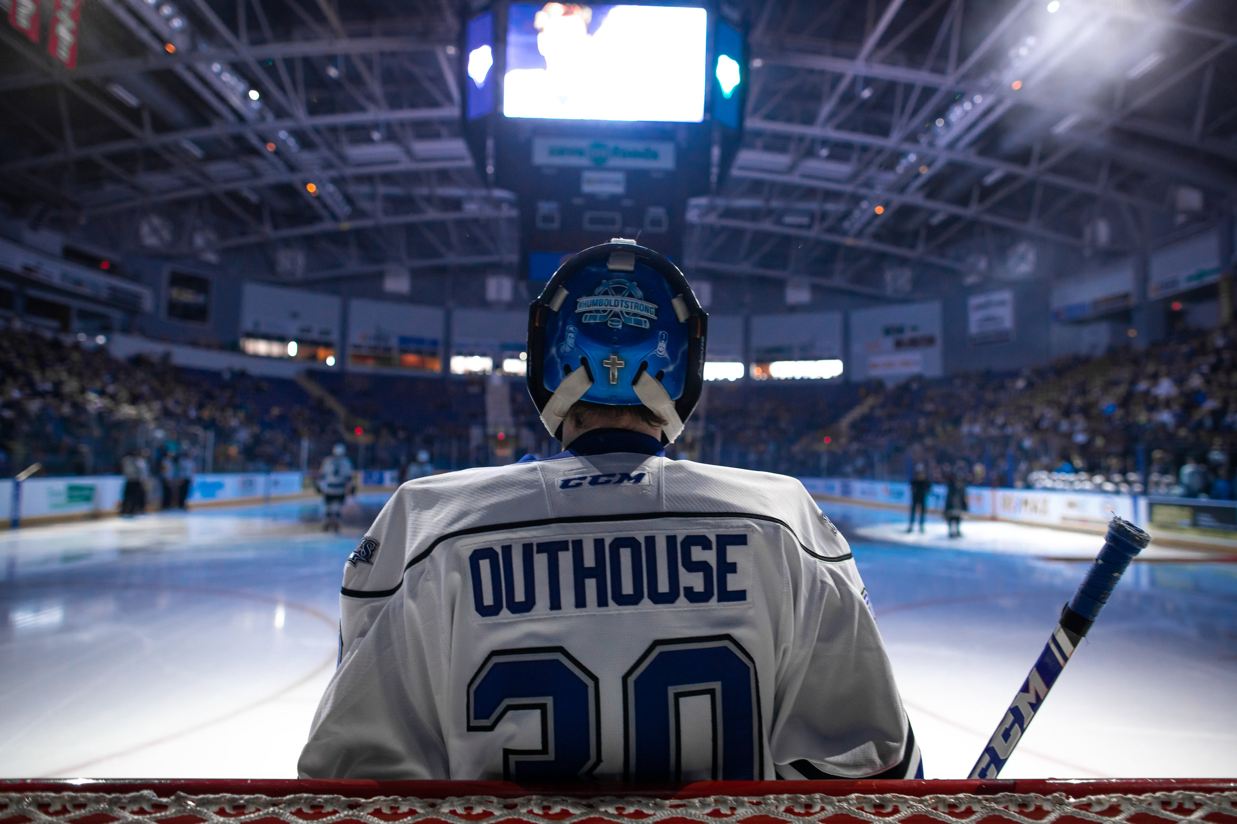 #30 Griffen Outhouse - Game 2 - WHL Playoffs 2019 Victoria Royals VS Kamloops Blazers - March 23 2019 (4-3 Loss). Photo by Jay Wallace-34549.jpg