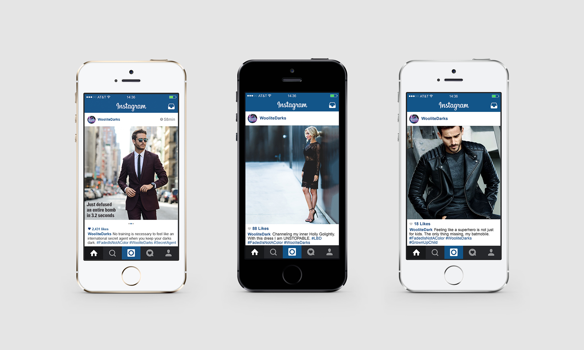 Instagram posts, individual and carousel.