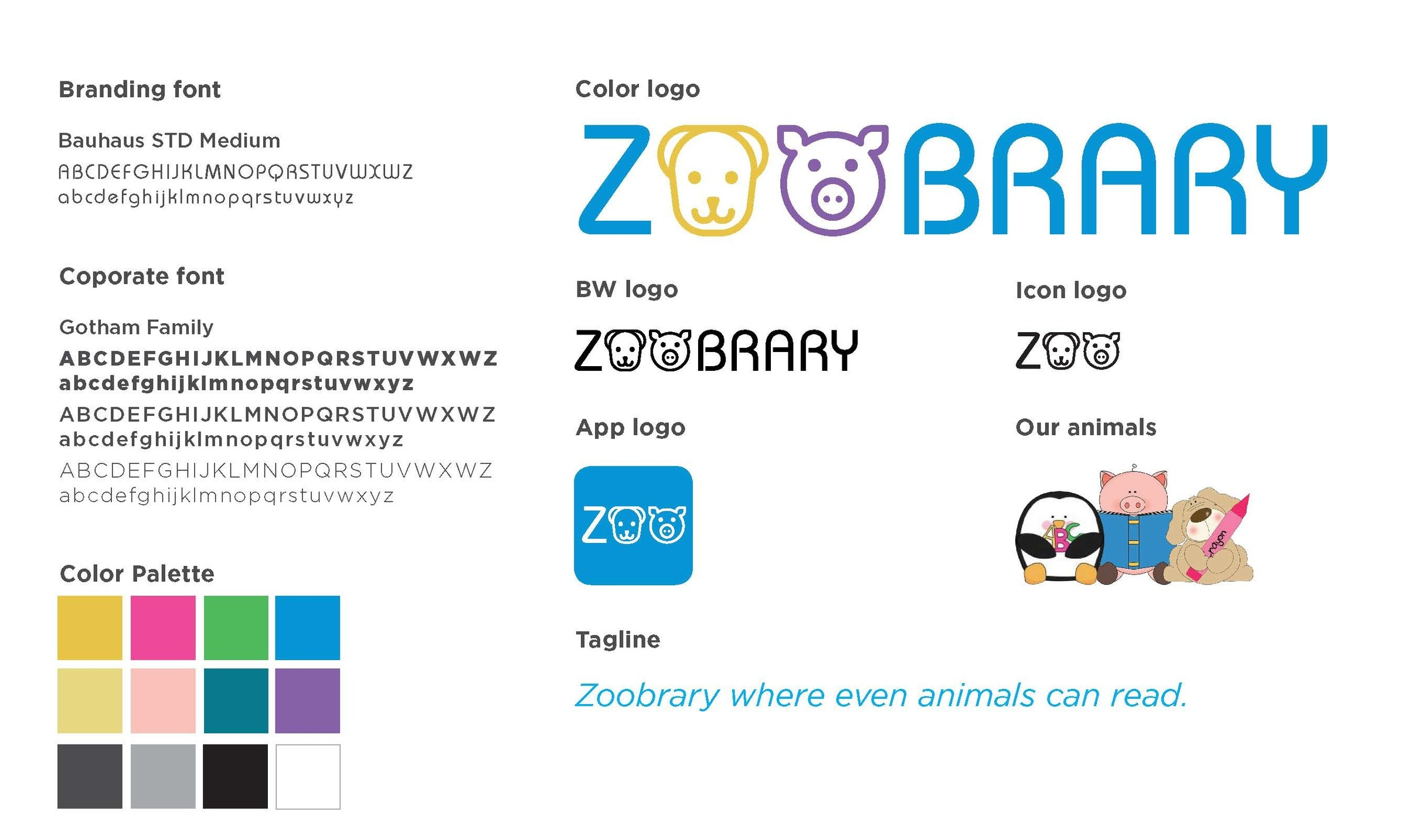 Zoobrary brand guidelines