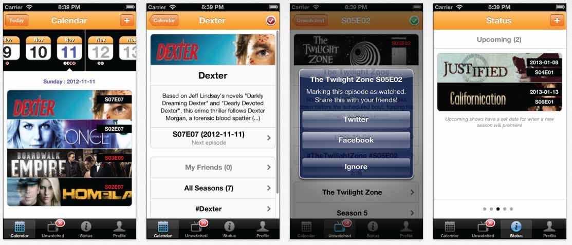 Original iTrackTV app