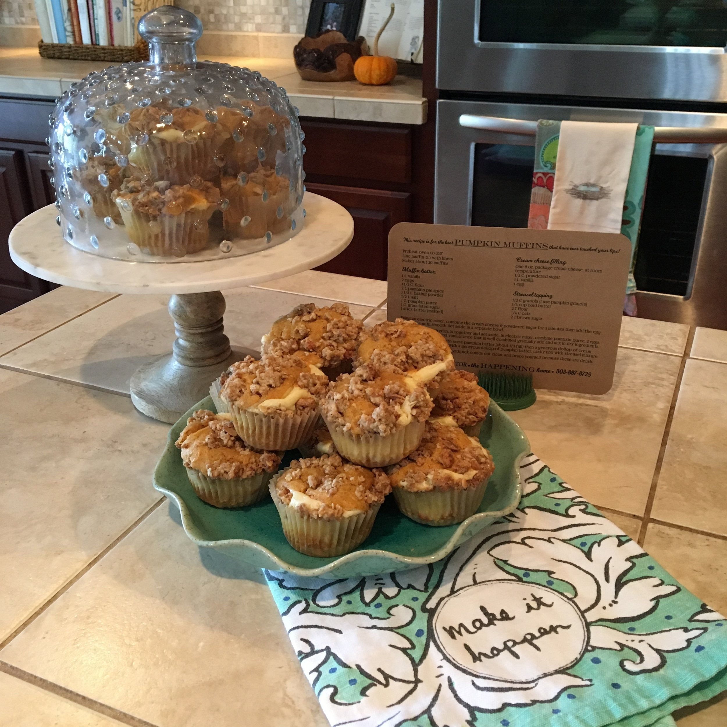 Pumpkin Cream Cheese Muffins - The Happening Home