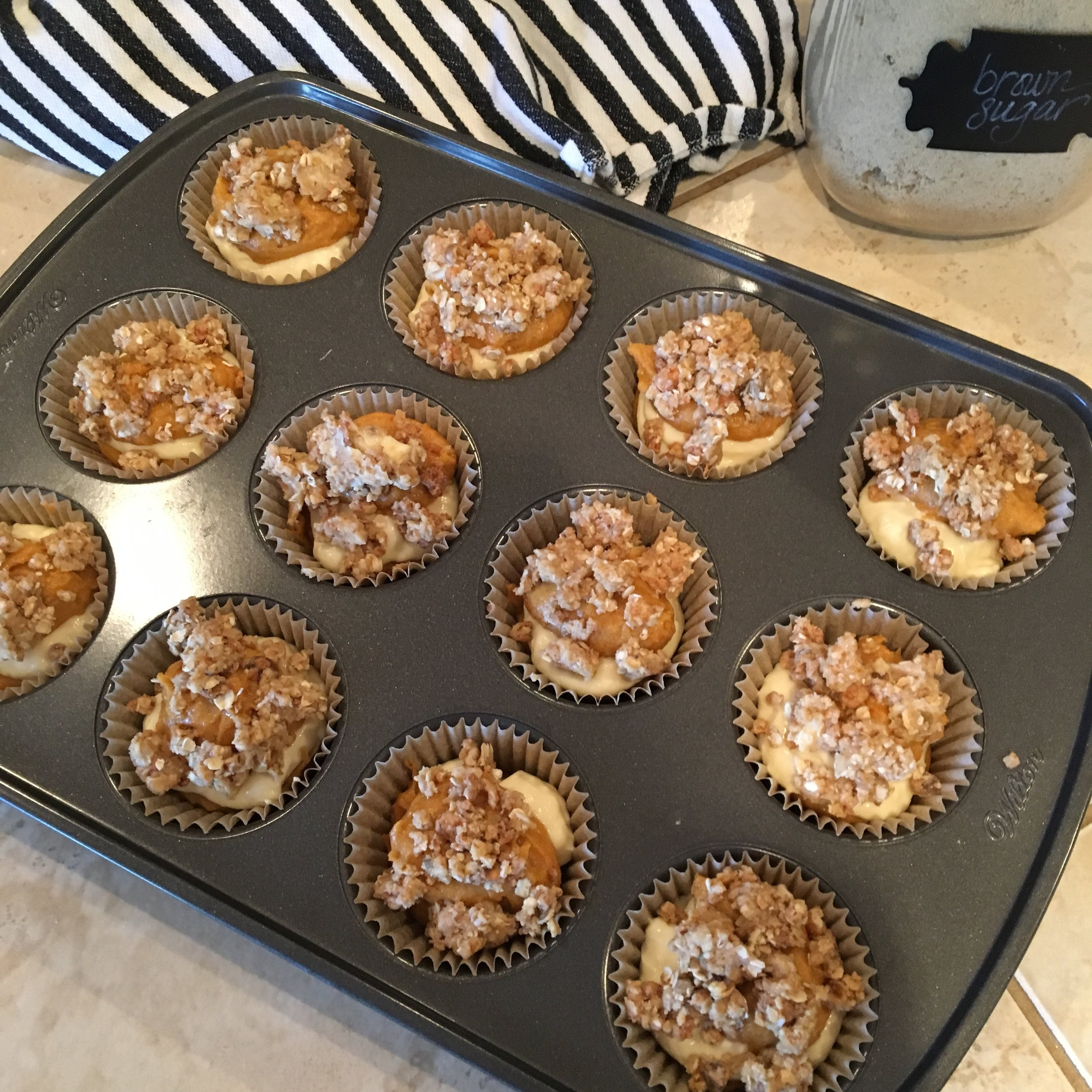 Fresh out of the oven, pumpkin cream cheese muffins - The Happening Home