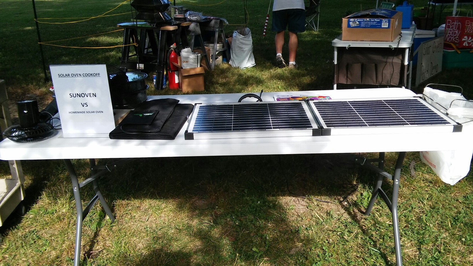 Solar Panel display and demonstration at The Westgate Summer Jam 2016