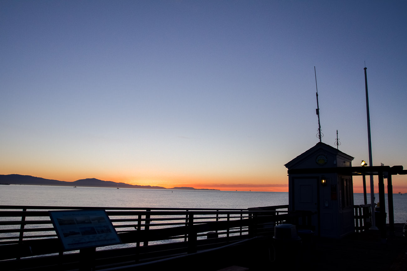 Sunrise on Stearns Wharf