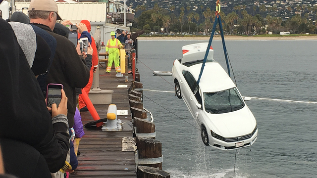 Car Drove off Pier Santa Barbara