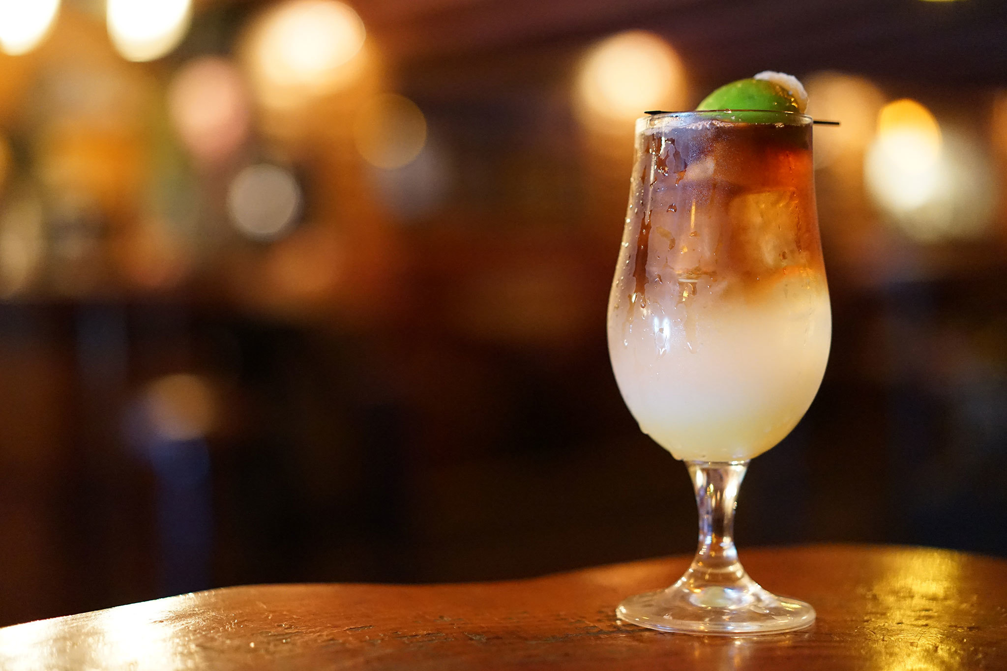 Rum Cocktails with Seafood and a lime