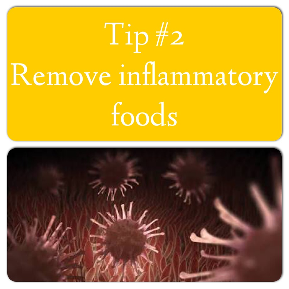 Remove any inflammatory foods. Inflammation that is in the gut generally leads to inflammation elsewhere in the body such as joints and arteries. A permeable (leaky)and inflamed gut will interfere with nutrient absorption leading to deficiencies. These are the foods which irritate the immune system and gut more than others;  1. Gluten Not only Celiacs react badly to gluten. A high % of people have non Celiacs gluten sensitivity, like a really really high amount. It's a gut irritant causing inflammation and contributes to a permeable (leaky) gut. *if you're wondering why 'Italians' can snack on pizza and pasta all day.... Well Milan is the celiac capital of the world. 2. Dairy 3. Eggs 4. Nuts 5. Night shades 6. Soy 7. Yeast  Not everybody reacts to these but if you do have digestive issues, pain and swollen joints, try going on an elimination diet and notice how you feel coming off these foods and then back on. Again the gut won't heal if it's being constantly irritated. You can also do some food allergy testing.