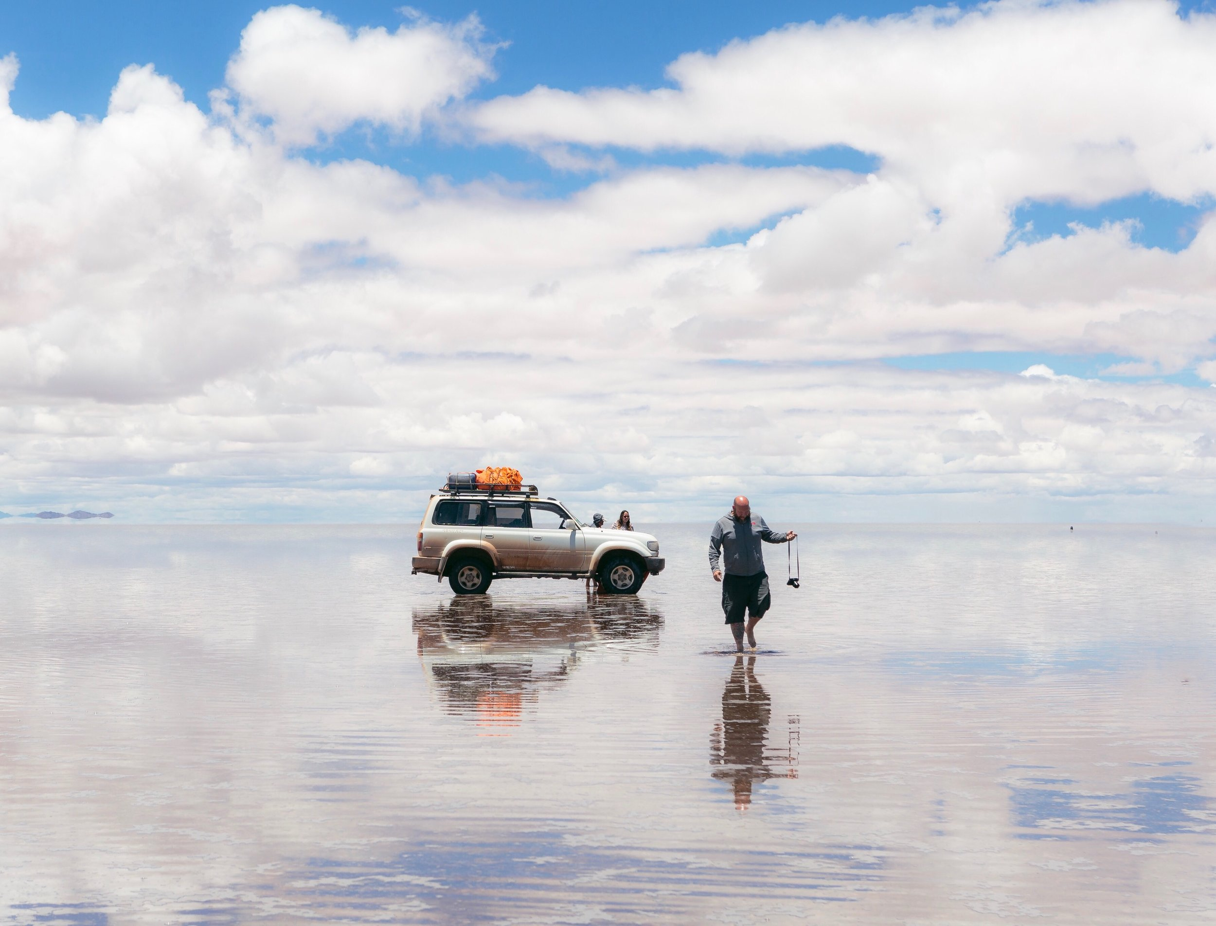 Me on the Salar de Uyuni. Photo by  Brian Stowell