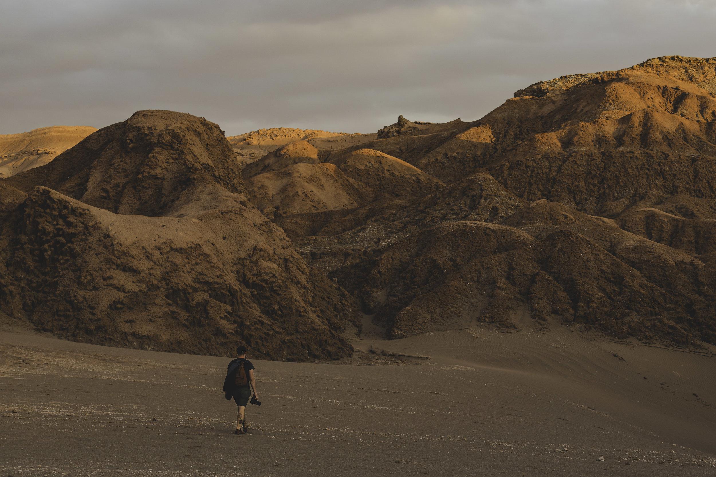 Brian in Valley de la luna, San Pedro de Atacama