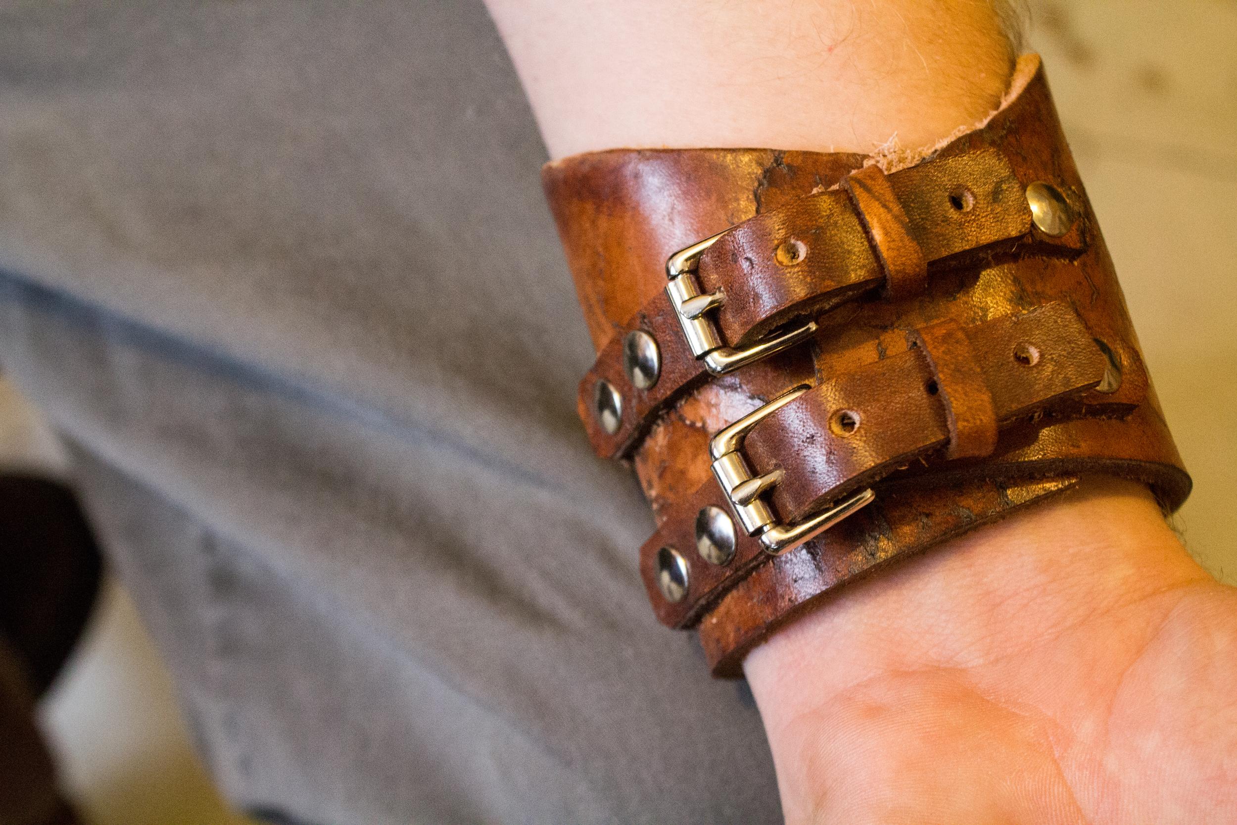Rocker Cross Leather Buckle Cuff-3.jpg