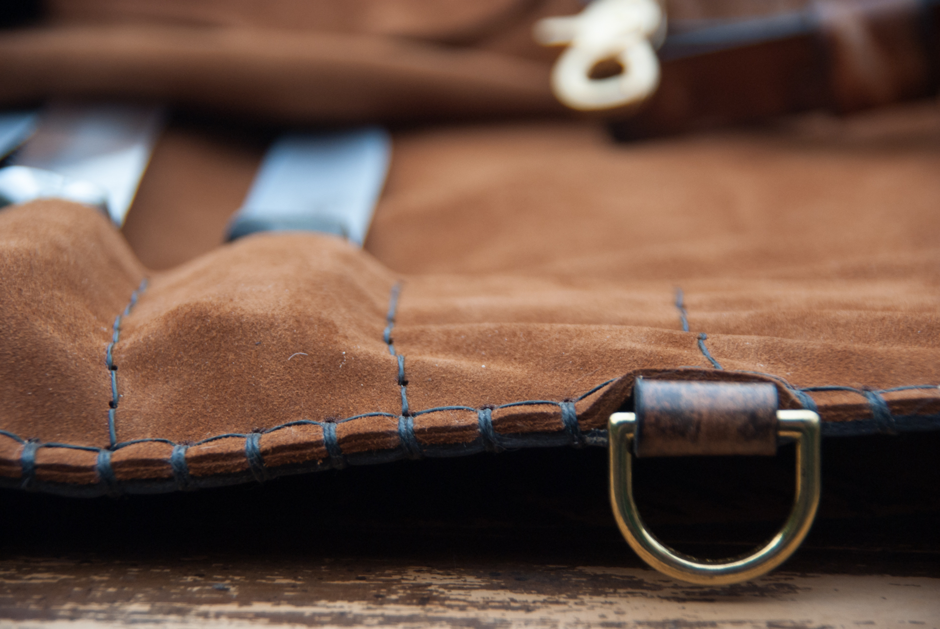 Leather Knife Roll Interior