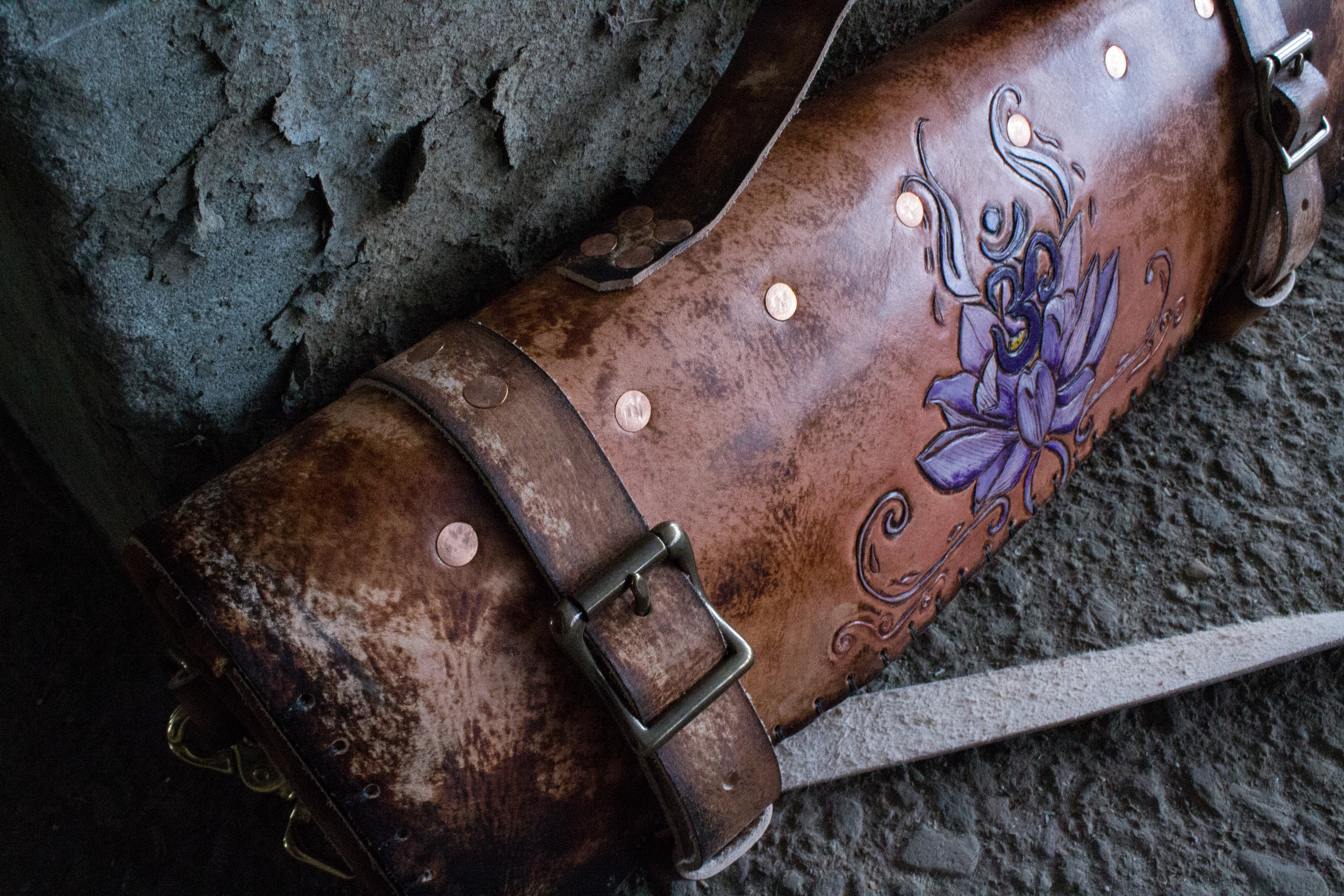 Om and Lotus Leather Knife Roll-15.jpg