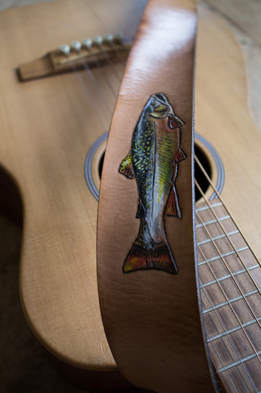 Fish Guitar Strap by Linny Kenney