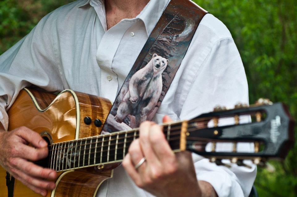 Polar Bear Guitar Strap Linny Kenney.jpg