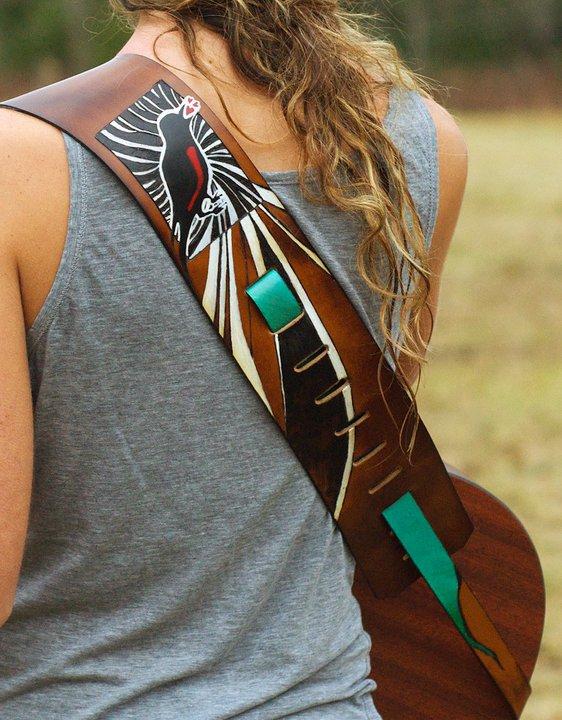 Steel Wheels Guitar Strap Linny Kenney.jpg