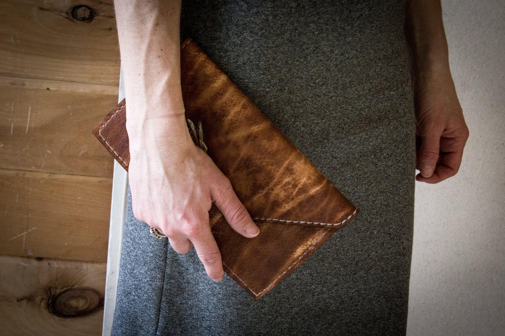 Leather Clutch Linny Kenney wallet.jpg