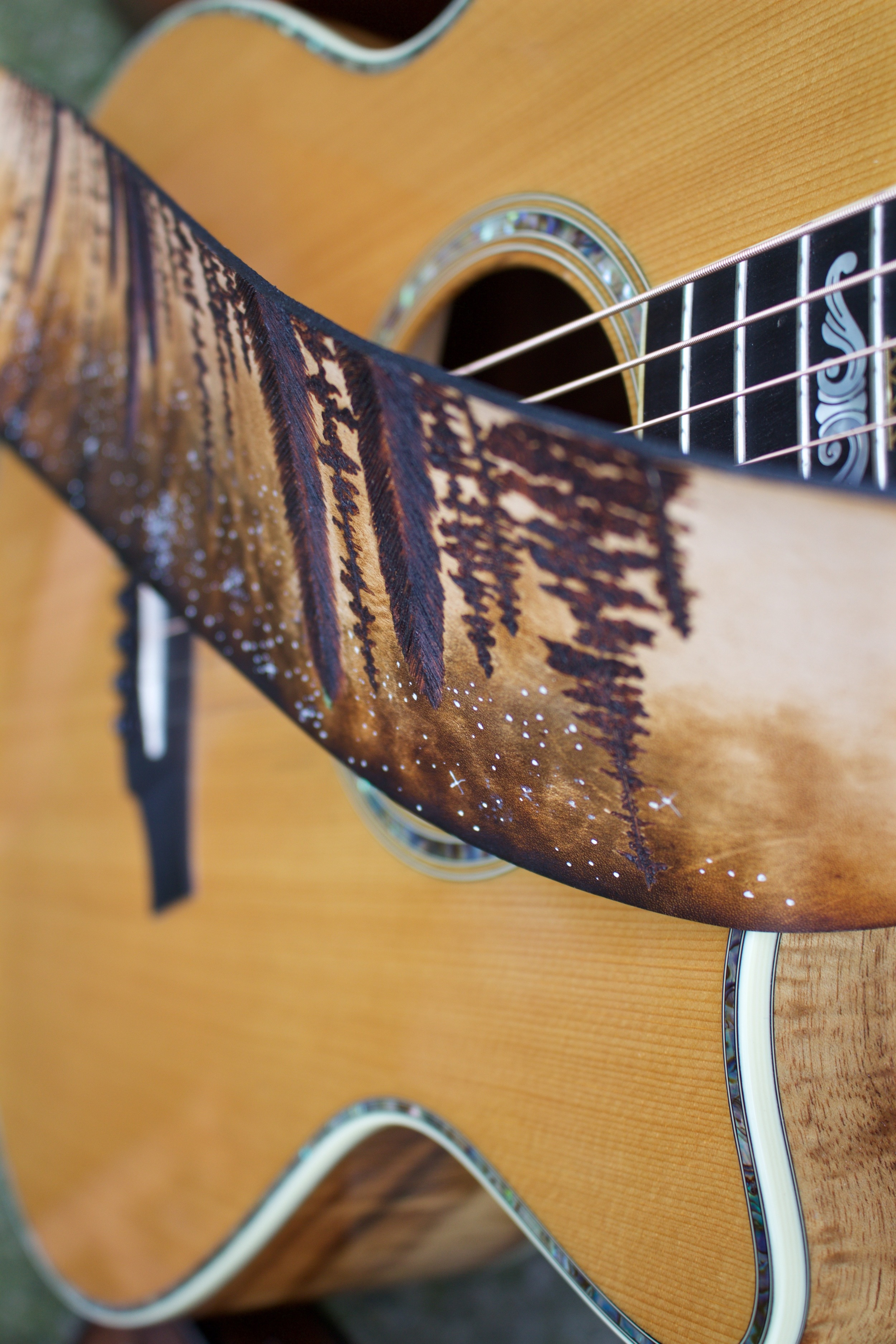 Forest and Stars Guitar Strap 2.jpg