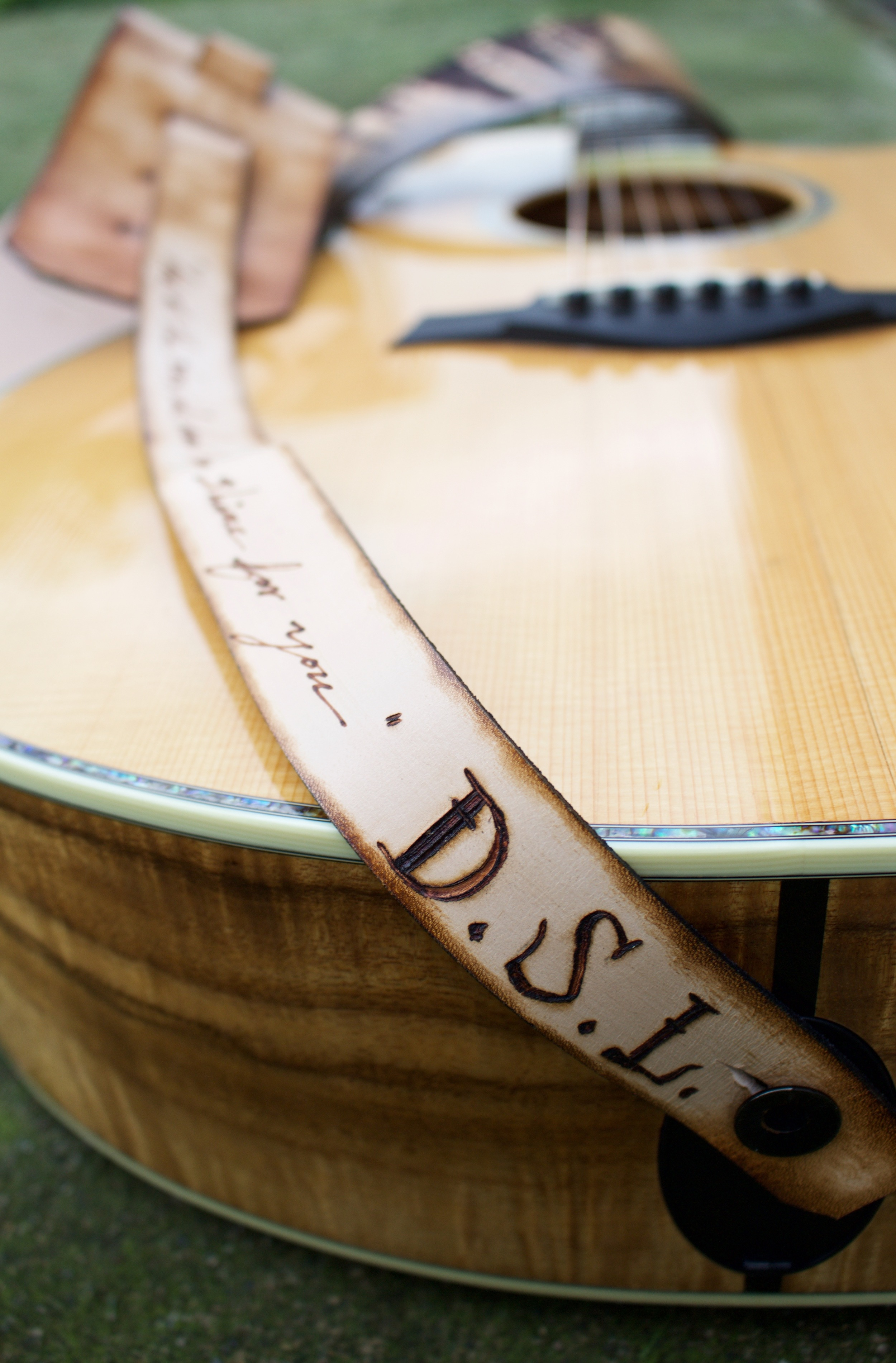 Forest and Stars Guitar Strap 4.jpg