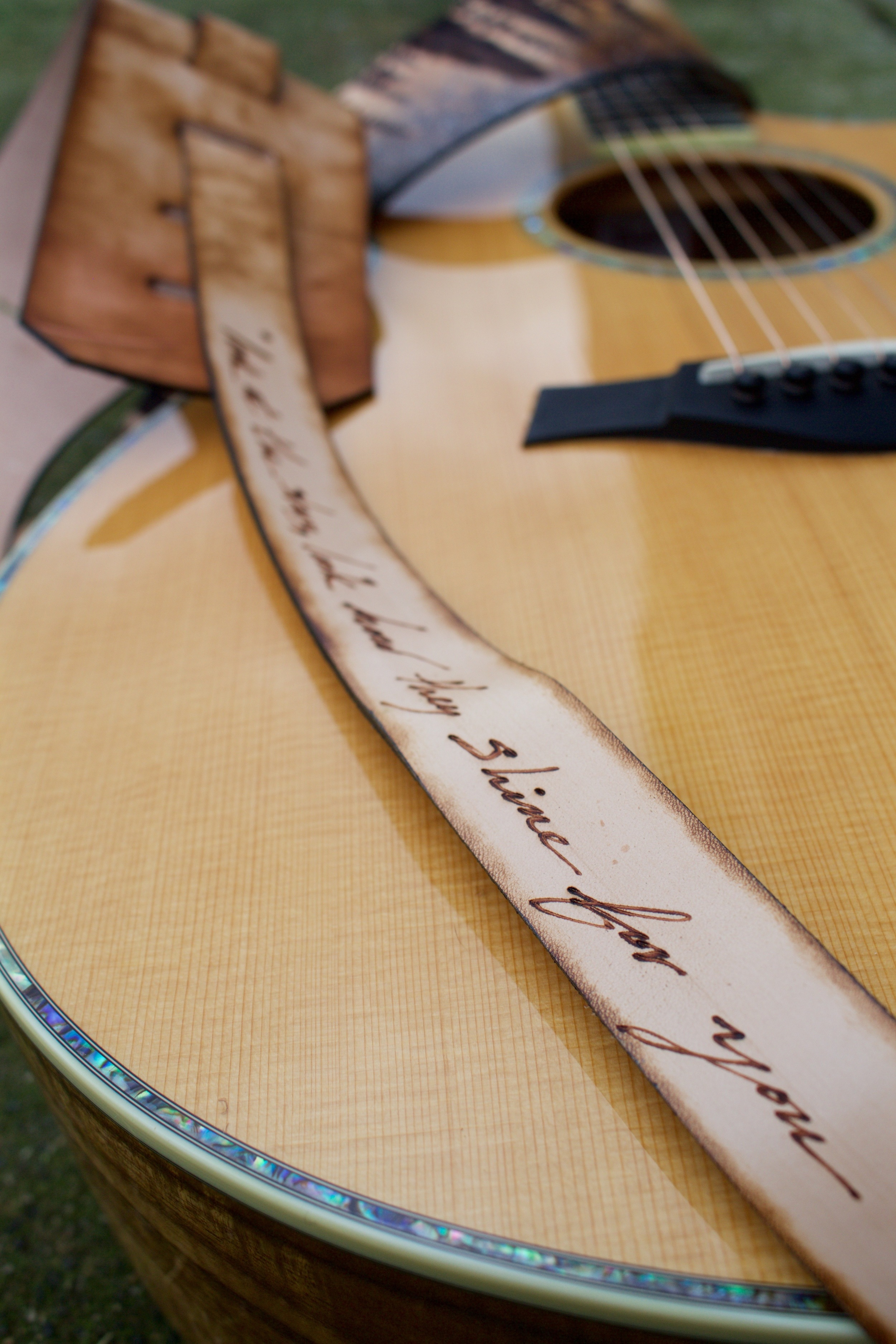 Forest and Stars Guitar Strap 5.jpg