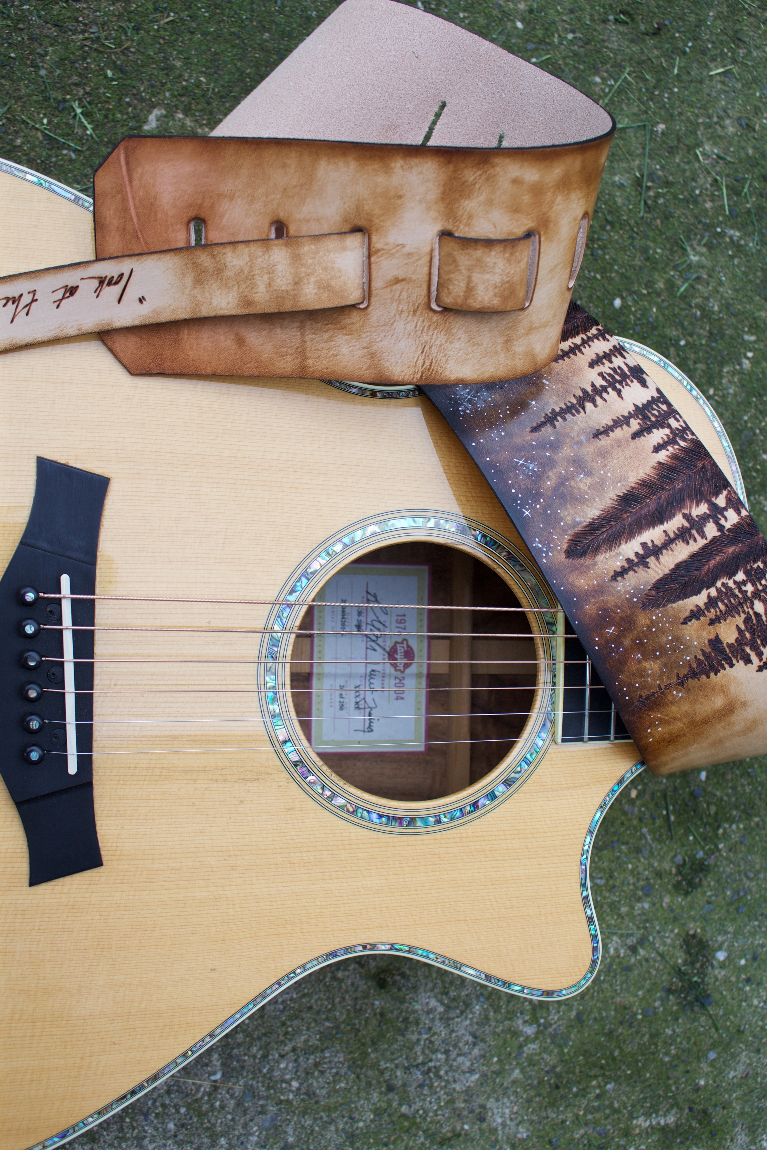 Forest and Stars Guitar Strap7.jpg