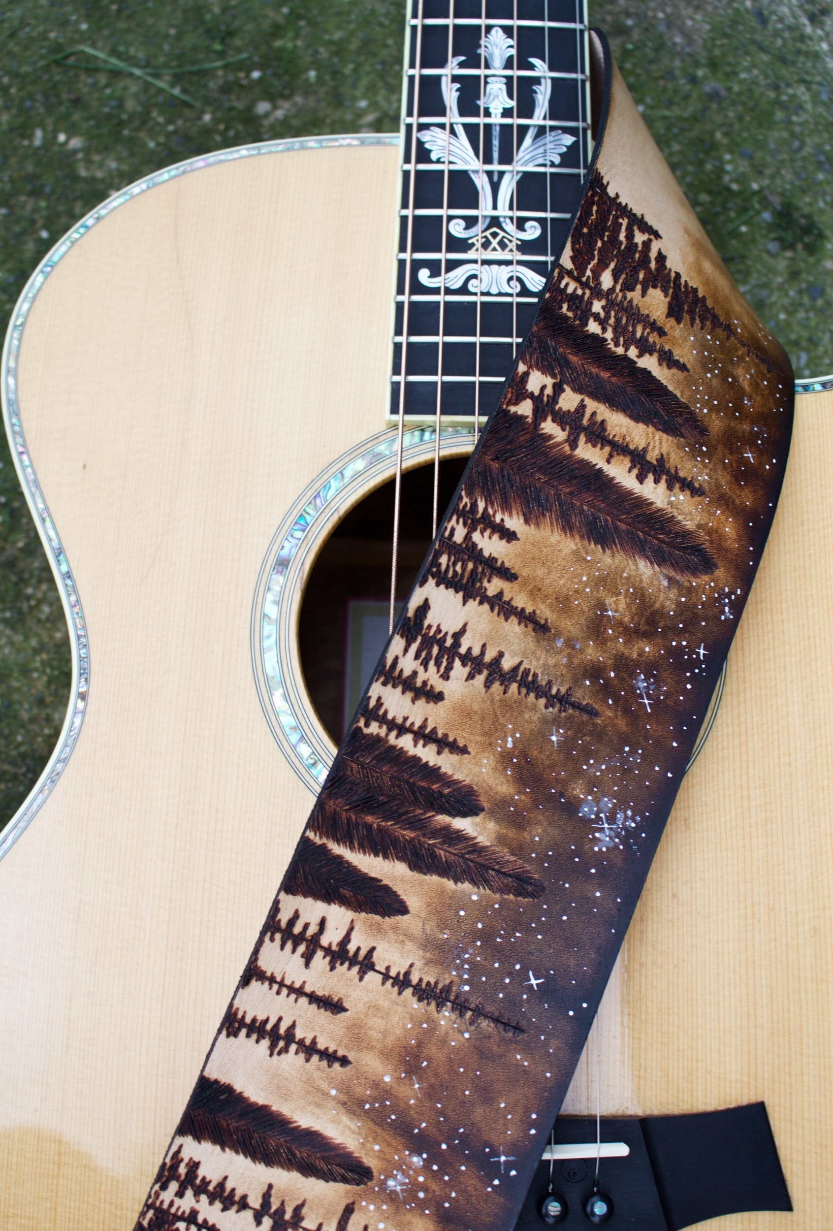 Forest and Stars Guitar Strap3.jpg