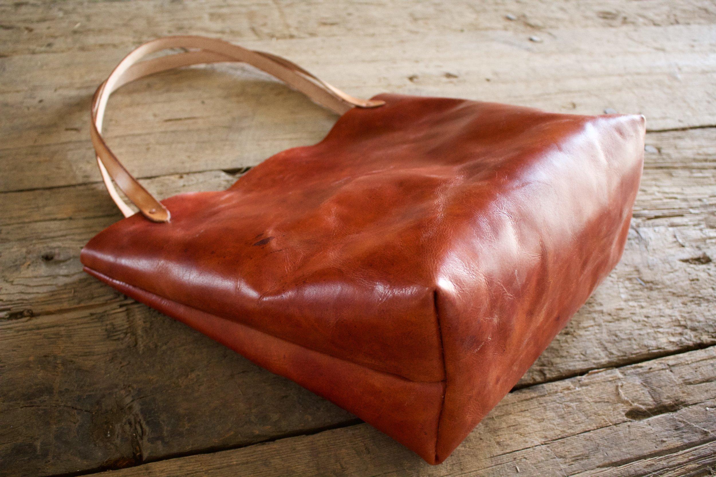 Mahogany Leather Tote