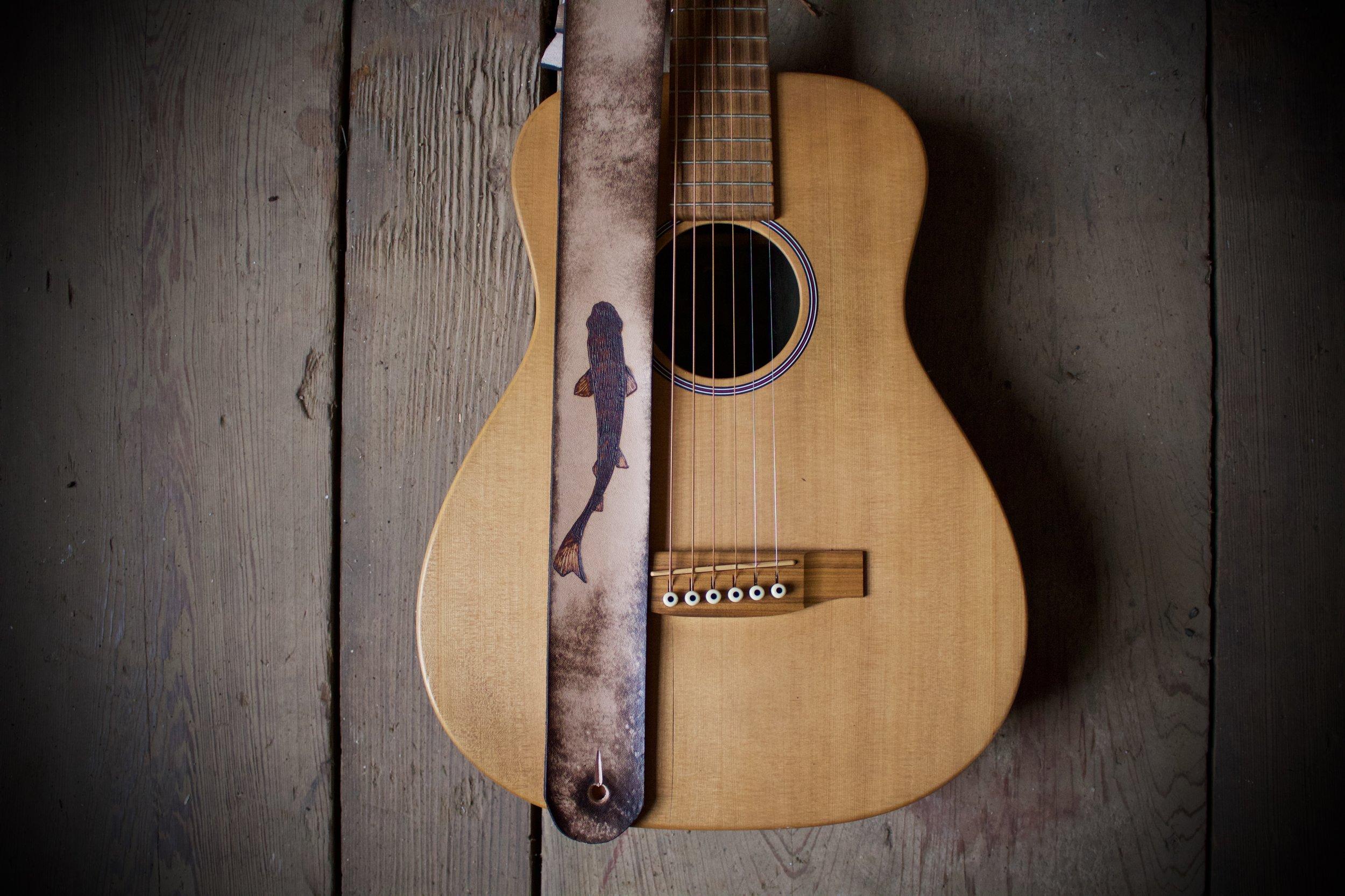 Koi fish guitar strap